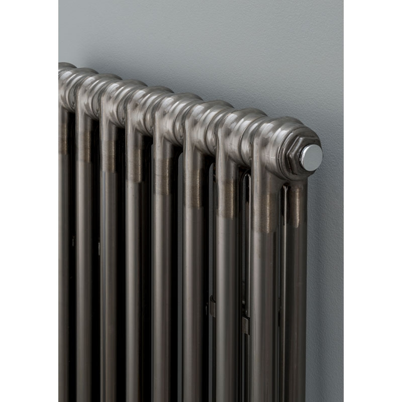 S4H Cornel 2 Column Vertical Radiator 1800mm H x 204mm W - 4 Sections - Lacquer