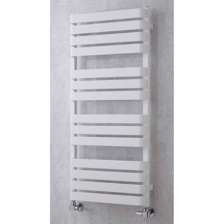 S4H Milton Flat Panel Heated Towel Rail 1110mm H x 500mm W - White