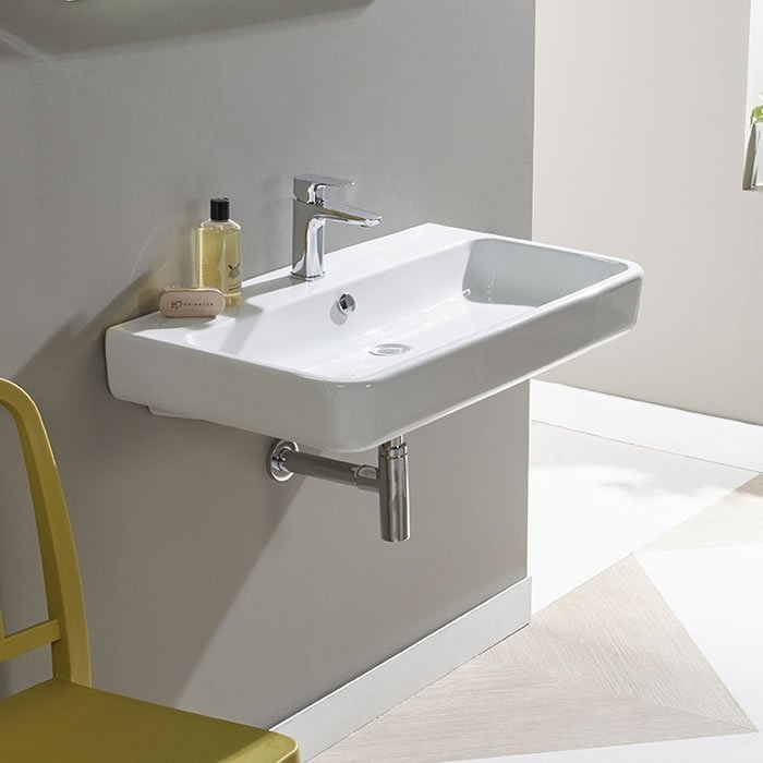 Tavistock Agenda Wall Hung Basin, 800mm Wide, 1 Tap Hole