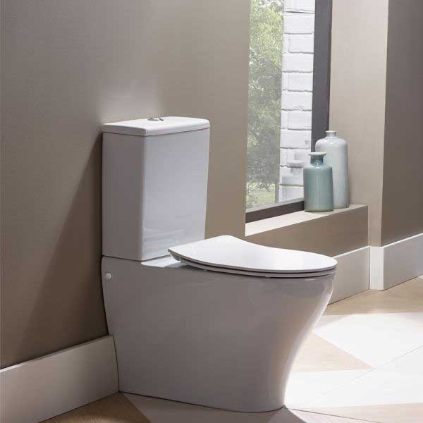 Tavistock Agenda Back to Wall Toilet, Slim Soft Close Seat