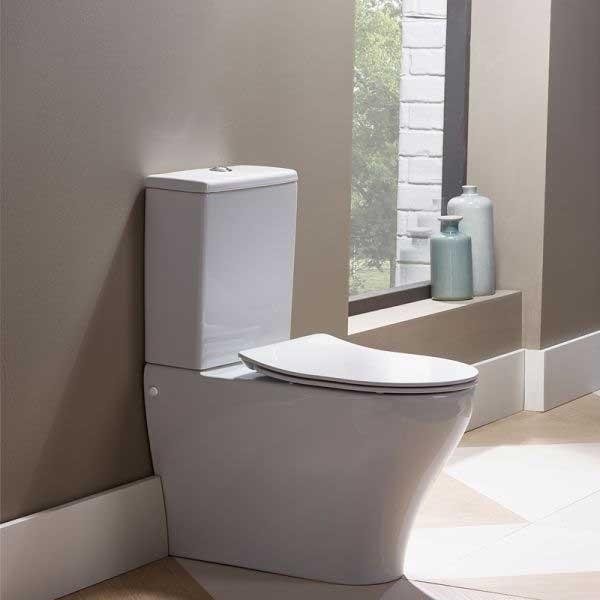 Tavistock Agenda Back to Wall Toilet, Slim Soft Close Seat