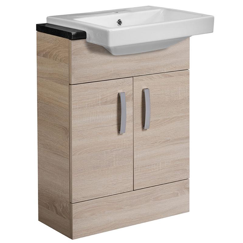 Tavistock Courier Semi-Countertop Bathroom Vanity Unit 600mm W Oregon Oak