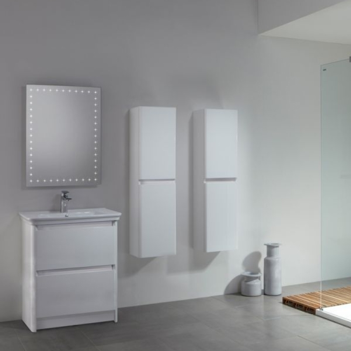 Tavistock Equate Floor Mounted Bathroom Vanity Unit & Basin 600mm W White 1 Tap Hole