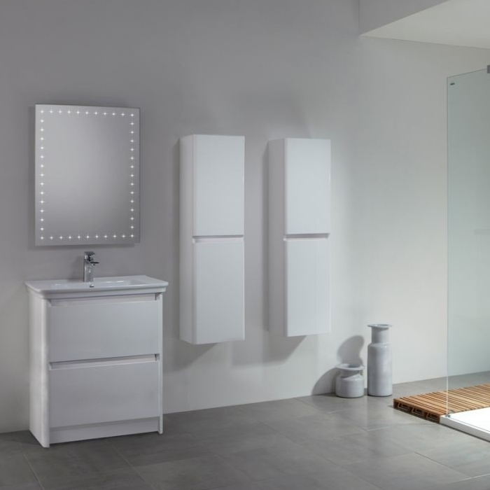 Tavistock Equate Floor Mounted Bathroom Vanity Unit & Basin 700mm W White 1 Tap Hole
