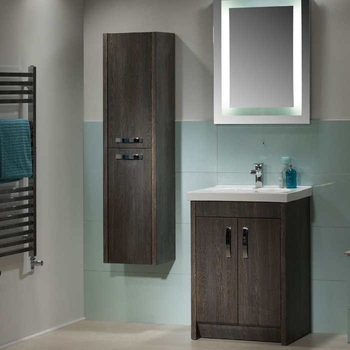 Tavistock Impact Floor Mounted Bathroom Vanity Unit & Basin 600mm W Java 1 Tap Hole