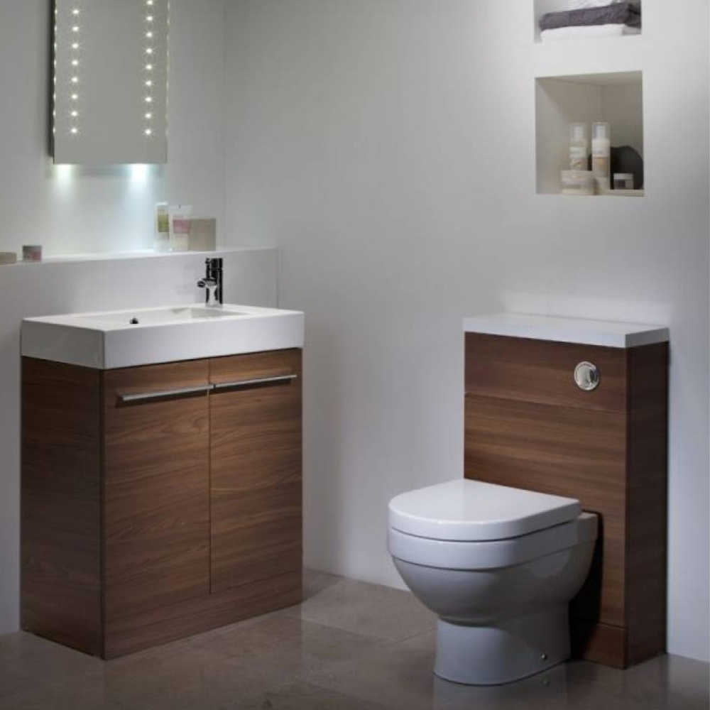 Tavistock Kobe Back to Wall WC Toilet Unit 500mm Wide Walnut