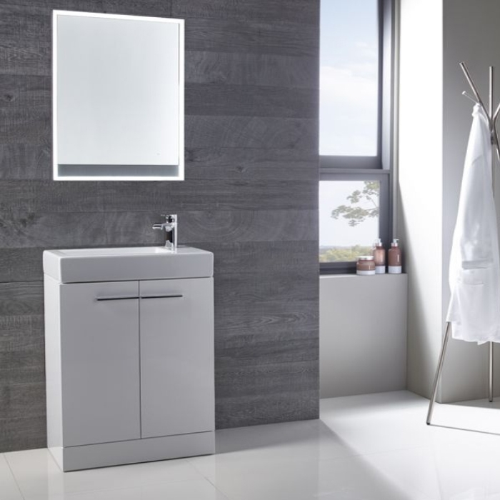 Tavistock Kobe Freestanding Bathroom Vanity Unit with Basin 560mm Wide - White