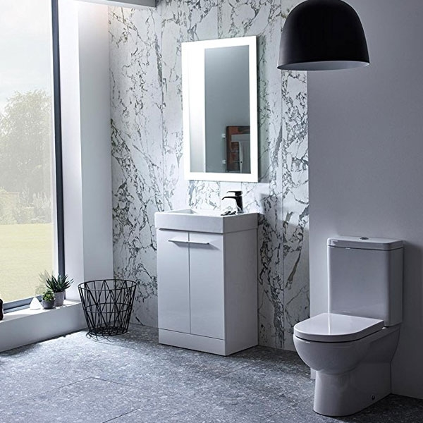 Tavistock Kobe Freestanding Bathroom Vanity Unit with Basin 700mm Wide - Gloss White