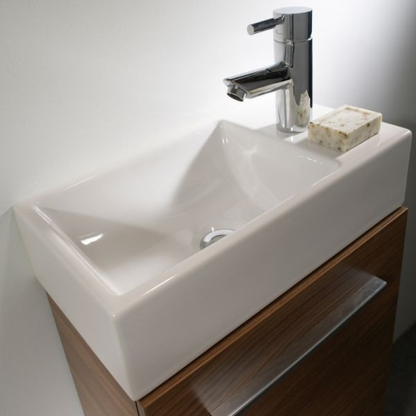 Tavistock Kobe Floor Standing Bathroom Vanity Unit with Basin 450mm W Walnut 1 Tap Hole