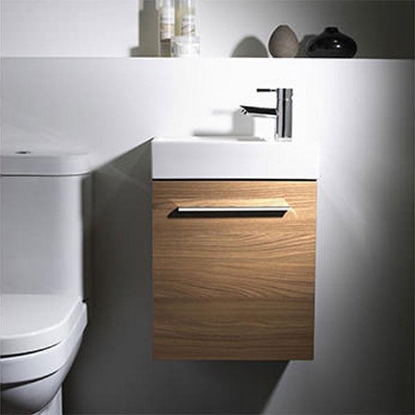Tavistock Kobe Wall Mounted Bathroom Vanity Unit with Basin 450mm Wide - Walnut