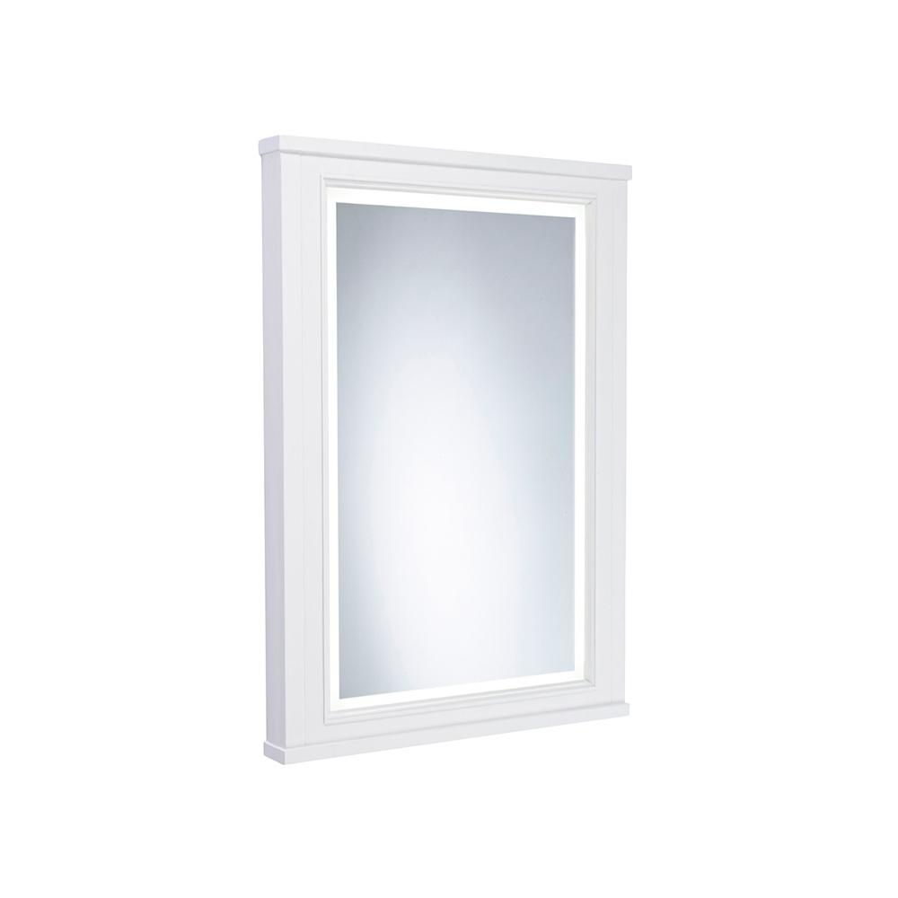 Tavistock Lansdown Illuminated LED Bathroom Mirror 600mm Wide - Linen White