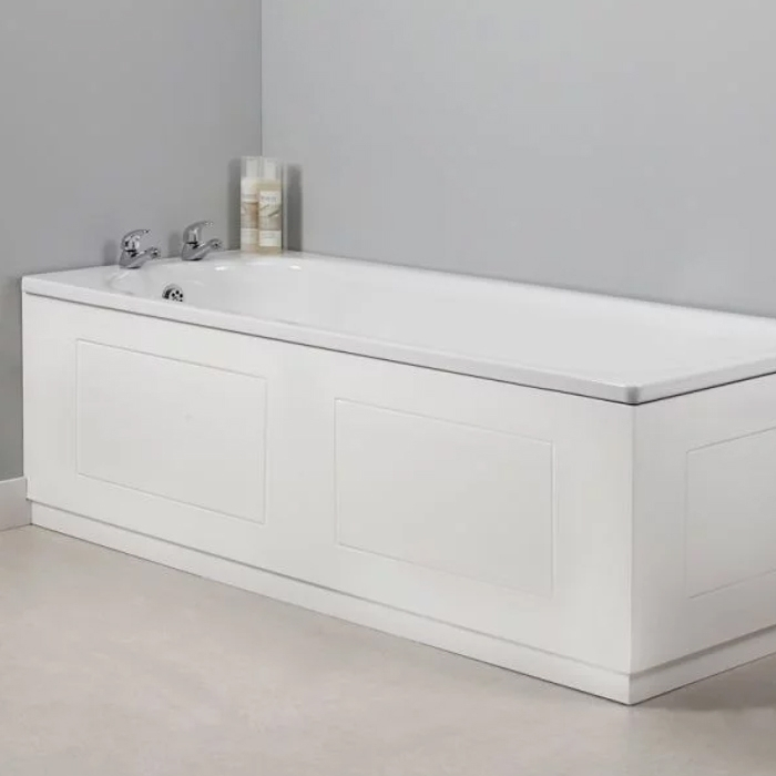 Tavistock Meridian Routed MDF Front Bath Panel 520mm H x 1700mm W - White