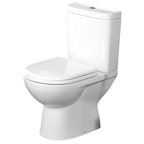 Tavistock Micra Close Coupled Toilet with Push Button Cistern - Soft Close Seat