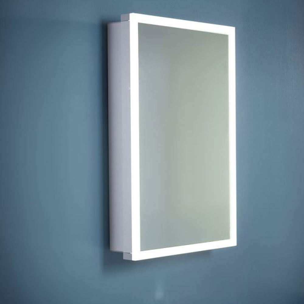 Tavistock Nook Single Door Mirror Cabinet with Integrated LED Lighting 500mm W
