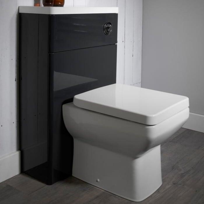 Tavistock Q60 Back to Wall Toilet WC 460mm Projection - Soft Close Seat-0