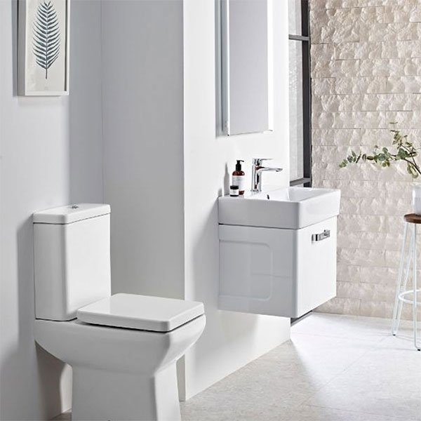 Tavistock Q60 Comfort Height Close Coupled Toilet with Push Button Cistern - Soft Close Seat