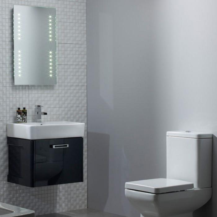 Tavistock Q60 Wall Mounted Bathroom Vanity Unit & Basin 550mm Wide Graphite 1 Tap Hole