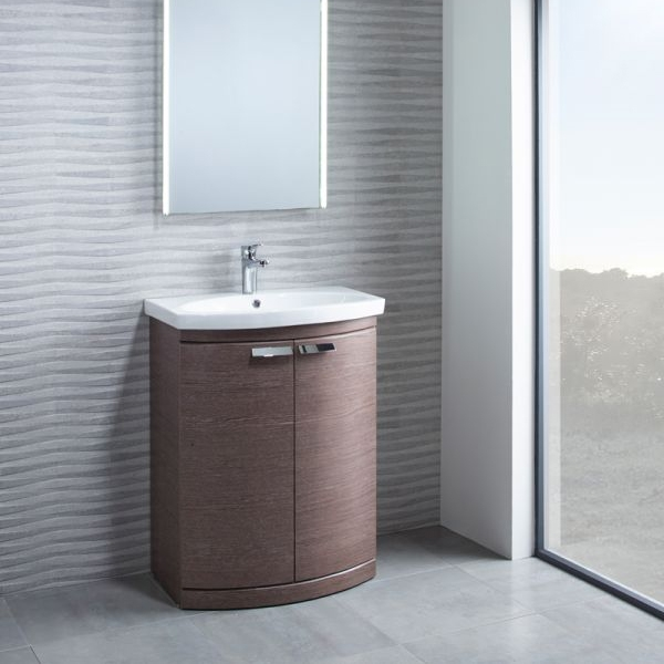 Tavistock Tempo Freestanding Bathroom Vanity Unit with Basin 500mm Wide - Dark Java