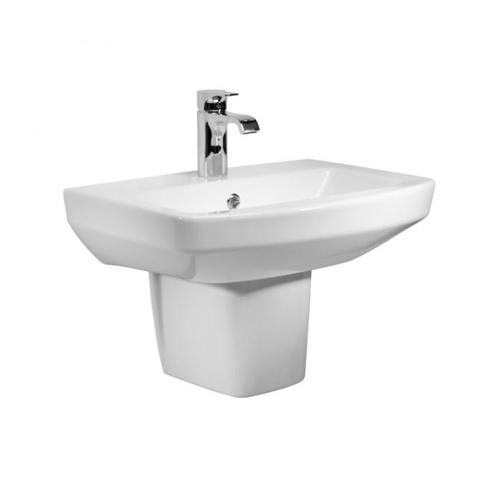 Tavistock Vibe Basin & Semi Pedestal 550mm Wide 1 Tap Hole