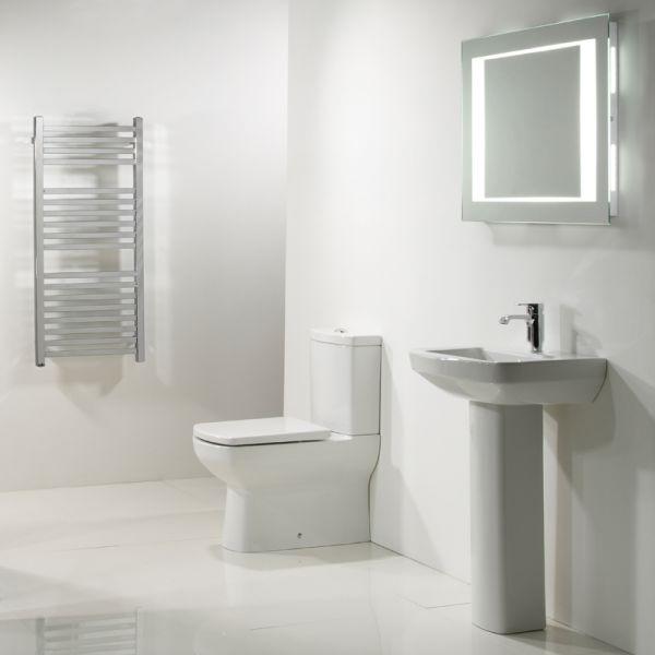 Tavistock Vibe Close Coupled Toilet with Push Button Cistern - Soft Close Seat