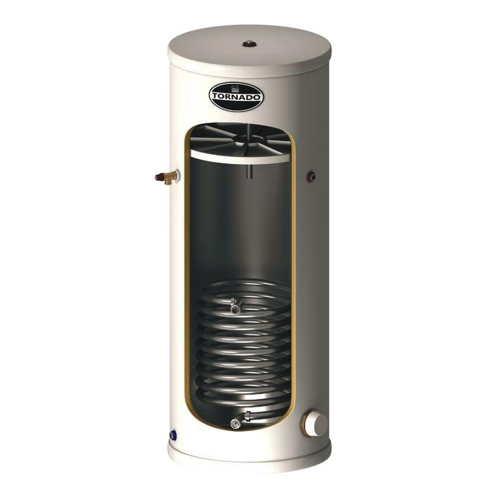 Telford Tornado 3.0 Stainless Steel Indirect Unvented Hot Water Cylinder 1025mm x 580mm 125 Litres