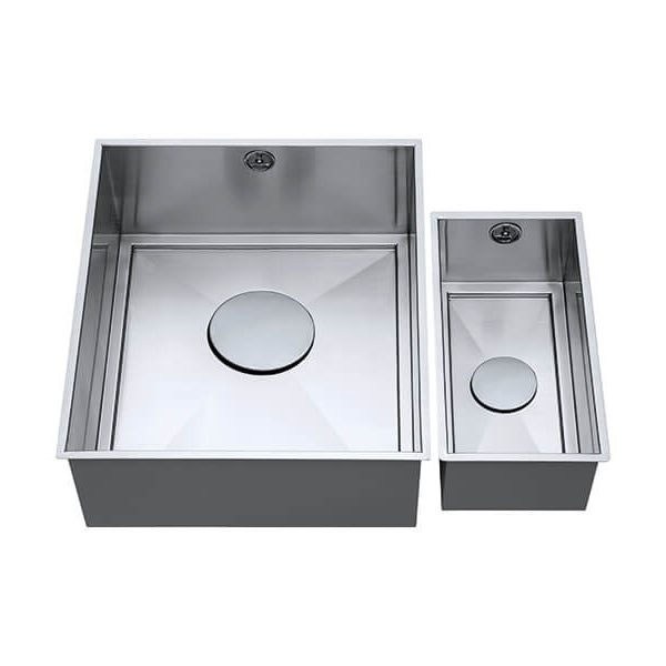 The 1810 Company Axixuno 335U/150U 1.5 Short Half Bowl Kitchen Sink - Stainless Steel
