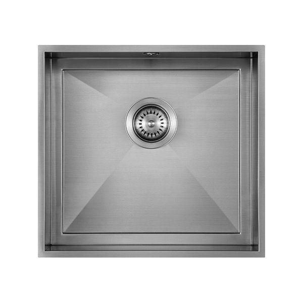 The 1810 Company Axixuno 450U QG 1.0 Bowl Kitchen Sink - Gunmetal