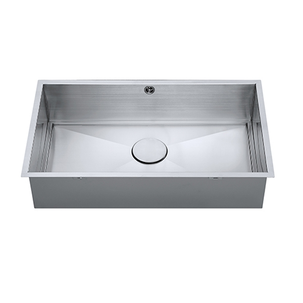 The 1810 Company Axixuno 700U SOS 1.0 Bowl Kitchen Sink - Stainless Steel-1