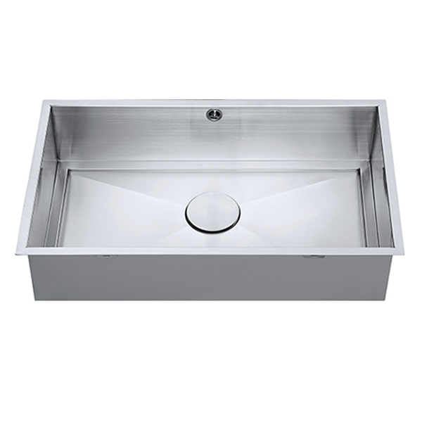 The 1810 Company Axixuno 700U QG 1.0 Bowl Kitchen Sink - Stainless Steel
