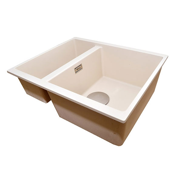 The 1810 Company Cavaduo 335/155U 1.5 Bowl Kitchen Sink - Champagne