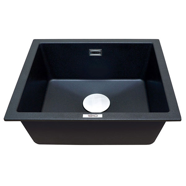 The 1810 Company Cavauno 469U 1.0 Bowl Kitchen Sink - Metallic Black-0