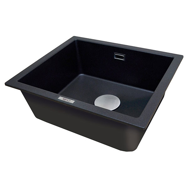 The 1810 Company Cavauno 469U 1.0 Bowl Kitchen Sink - Metallic Black