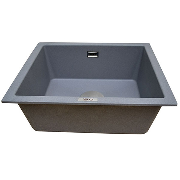 The 1810 Company Cavauno 469U 1.0 Bowl Kitchen Sink - Metallic Grey-0