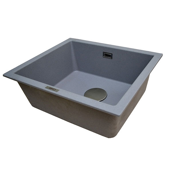 The 1810 Company Cavauno 469U 1.0 Bowl Kitchen Sink - Metallic Grey-1