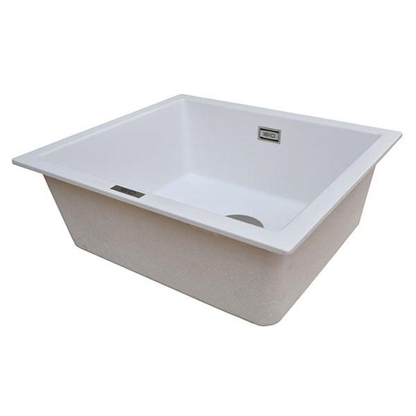 The 1810 Company Cavauno 469U 1.0 Bowl Kitchen Sink - Polar White-1