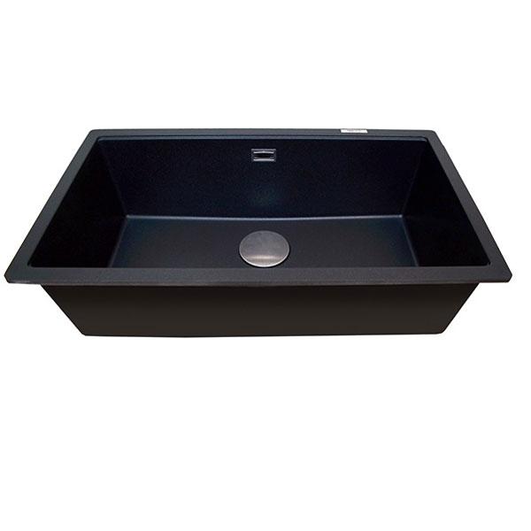 The 1810 Company Cavauno 720U 1.0 Bowl Kitchen Sink - Metallic Black-0