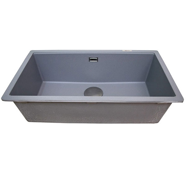 The 1810 Company Cavauno 720U 1.0 Bowl Kitchen Sink - Metallic Grey
