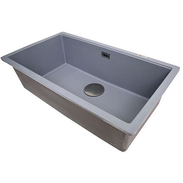 The 1810 Company Cavauno 720U 1.0 Bowl Kitchen Sink - Metallic Grey-1