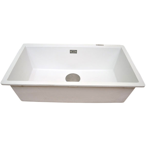 The 1810 Company Cavauno 720U 1.0 Bowl Kitchen Sink - Polar White