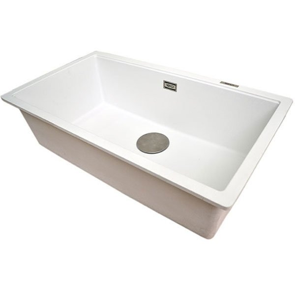 The 1810 Company Cavauno 720U 1.0 Bowl Kitchen Sink - Polar White-1
