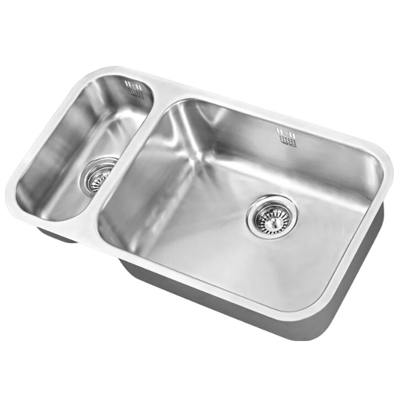The 1810 Company Etroduo 191/535U 1.5 Bowl Kitchen Sink - Right Handed-0