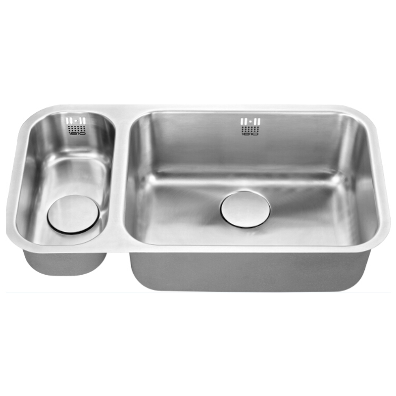 The 1810 Company Etroduo 191/535U 1.5 Bowl Kitchen Sink - Right Handed-1