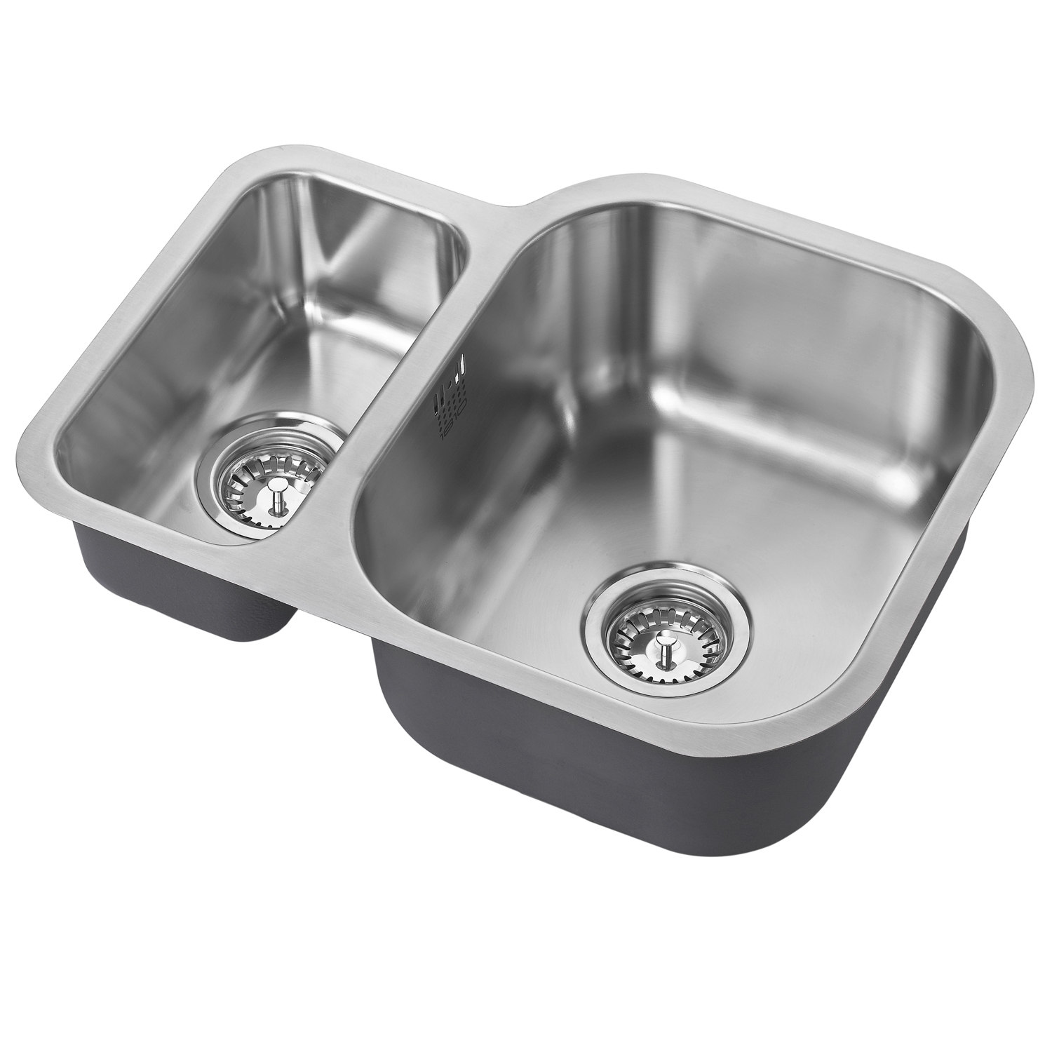 The 1810 Company Etroduo 589/450U 1.5 Bowl Kitchen Sink - Right Handed-0