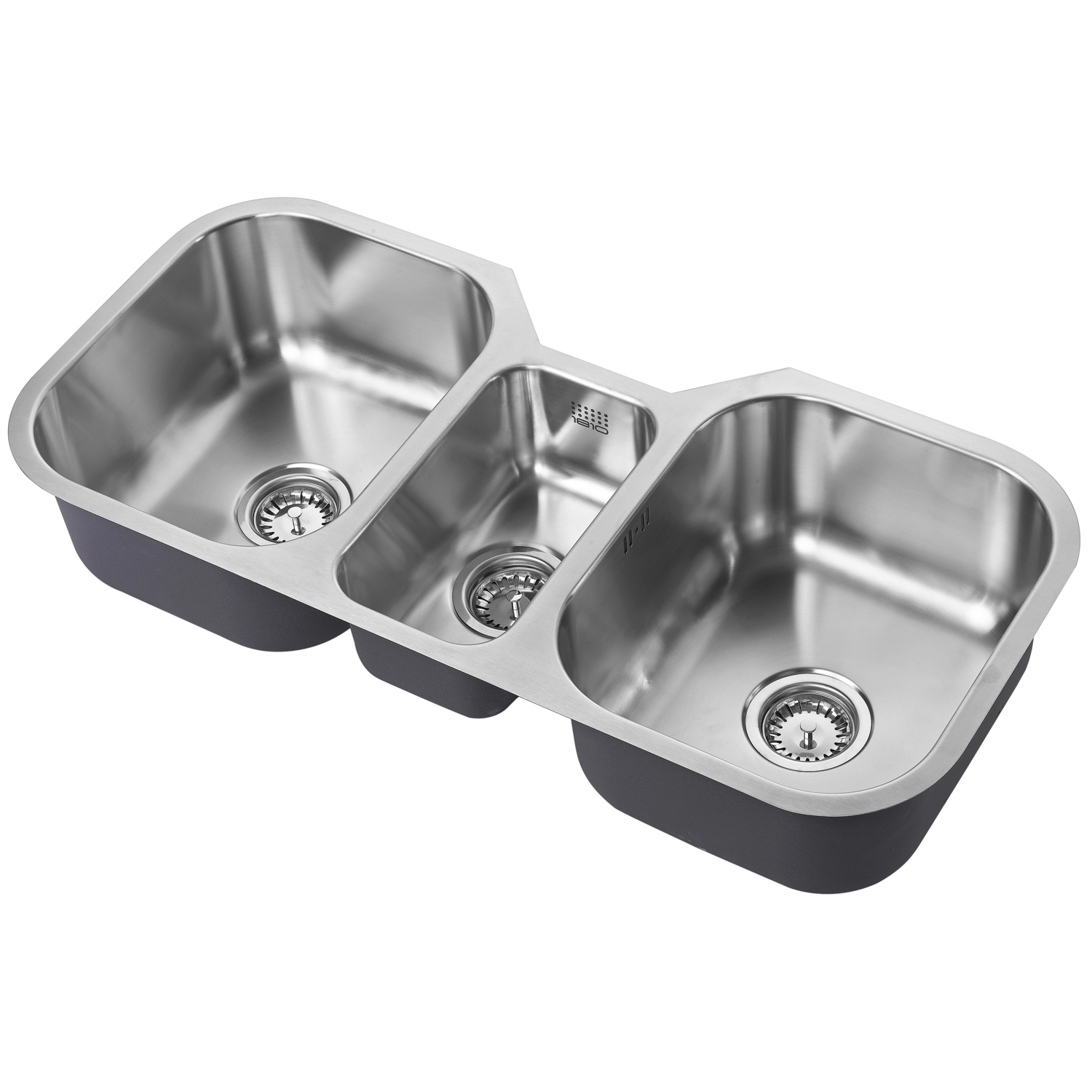 The 1810 Company Etrotrio 960/450U 3.0 Bowl Kitchen Sink - Stainless Steel-0