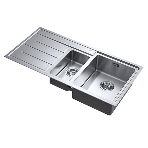 The 1810 Company Forzaduo 150i 1.5 Bowl Kitchen Sink - Right Handed-0