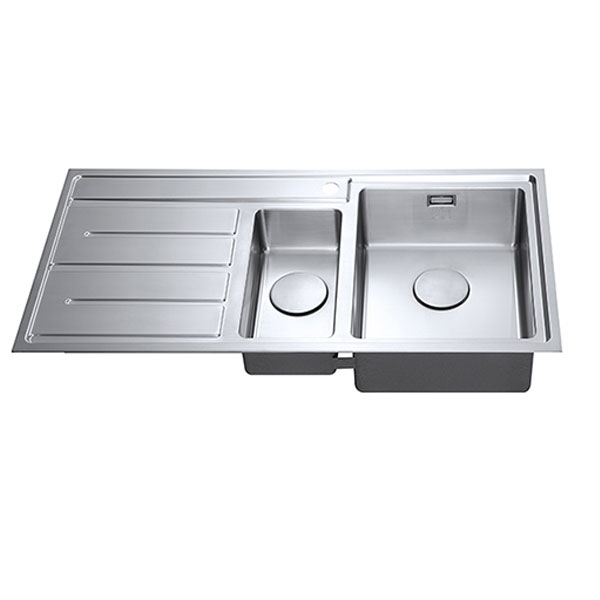 The 1810 Company Forzaduo 150i 1.5 Bowl Kitchen Sink - Right Handed-1