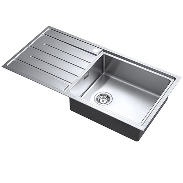 The 1810 Company Forzauno 100i Large 1.0 Bowl Kitchen Sink - Right Handed-0