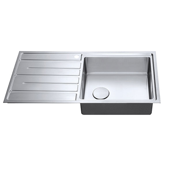 The 1810 Company Forzauno 100i Large 1.0 Bowl Kitchen Sink - Right Handed-1
