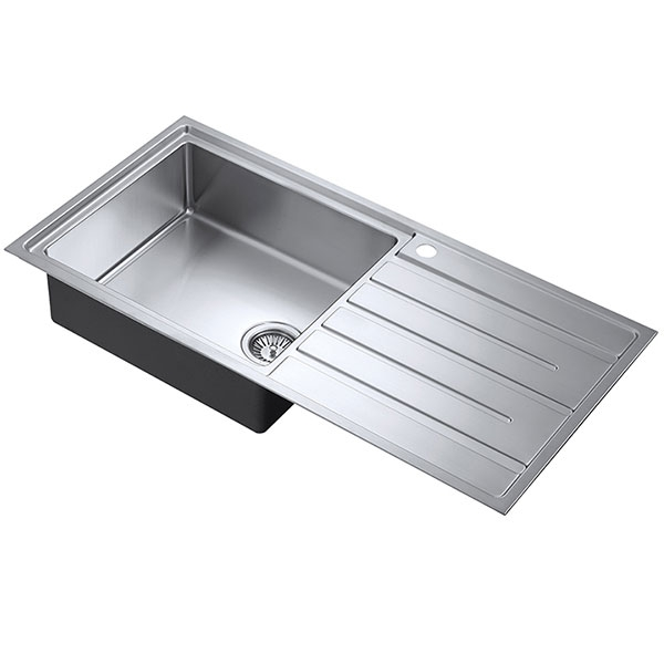 The 1810 Company Forzauno 100i Large 1.0 Bowl Kitchen Sink - Left Handed-0