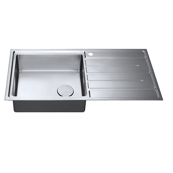 The 1810 Company Forzauno 100i Large 1.0 Bowl Kitchen Sink - Left Handed-1